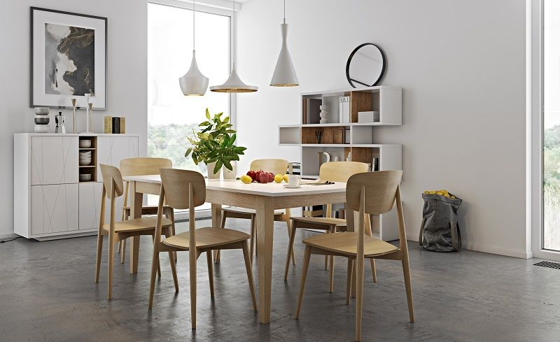 Temahome - Sally Spisebordsstol - Lys træ - Spisebordsstol i lyst træ
