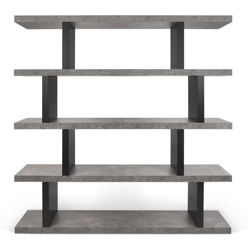 Step Reol - Grå - Reol i råt beton-look