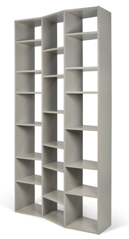 Temahome - Valsa Reol - Grå 21 rum - Smal bogreol i grå