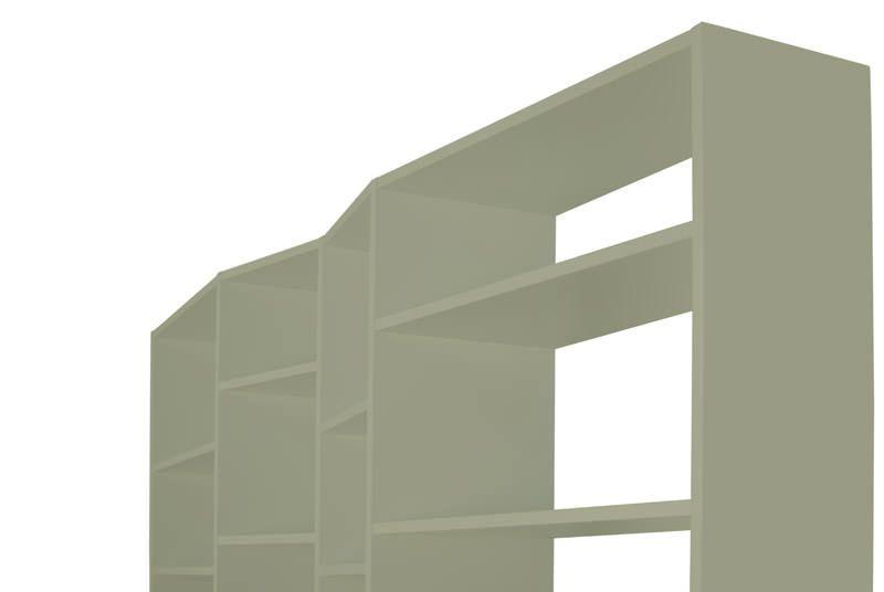 Temahome - Valsa Reol - Grå 28 rum - Stor bogreol i grå
