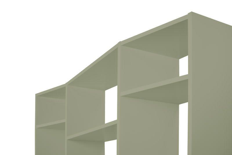 Temahome Valsa Reol - Grå 34 rum B:144 - Grå bokreol med store og små rom