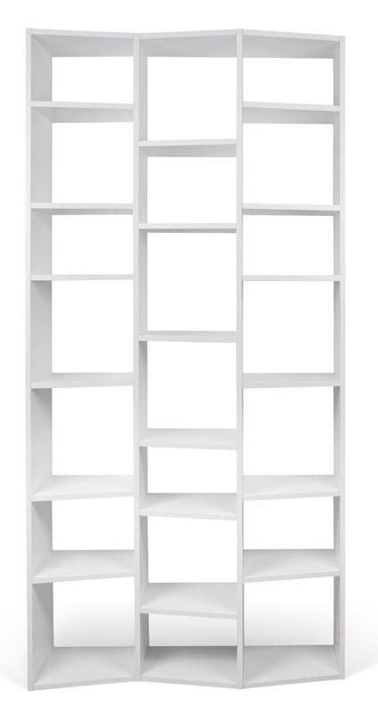 Temahome - Valsa Reol - Hvid 21 rum B:110 - Smal bogreol i hvid