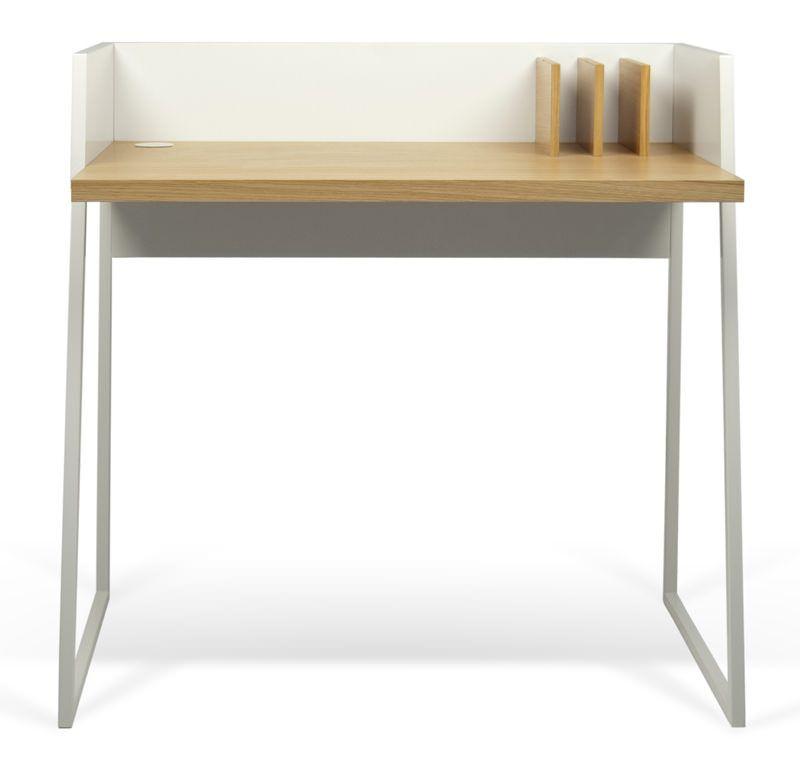 Temahome - Volga Skrivebord - Flot skrivebord i hvid/egetræ