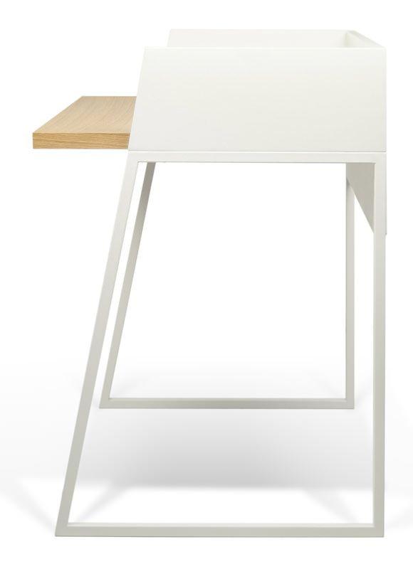 Volga Skrivebord - Flot skrivebord i hvid/egetræ