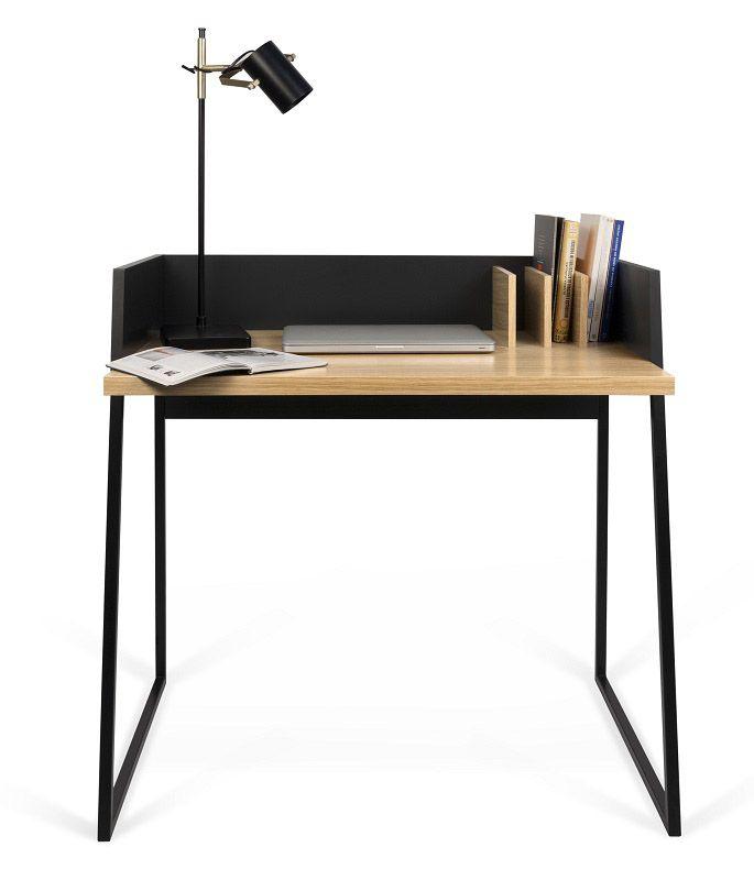 Temahome - Volga Skrivebord - Sort - Eg - Skrivebord med karakteristisk design
