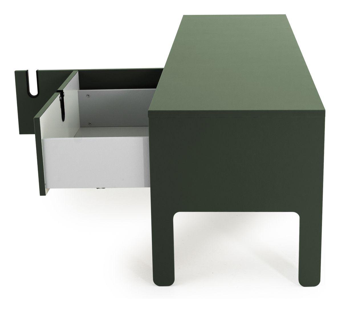 TENZO - Uno TV-bænk m. skuffe, Grøn