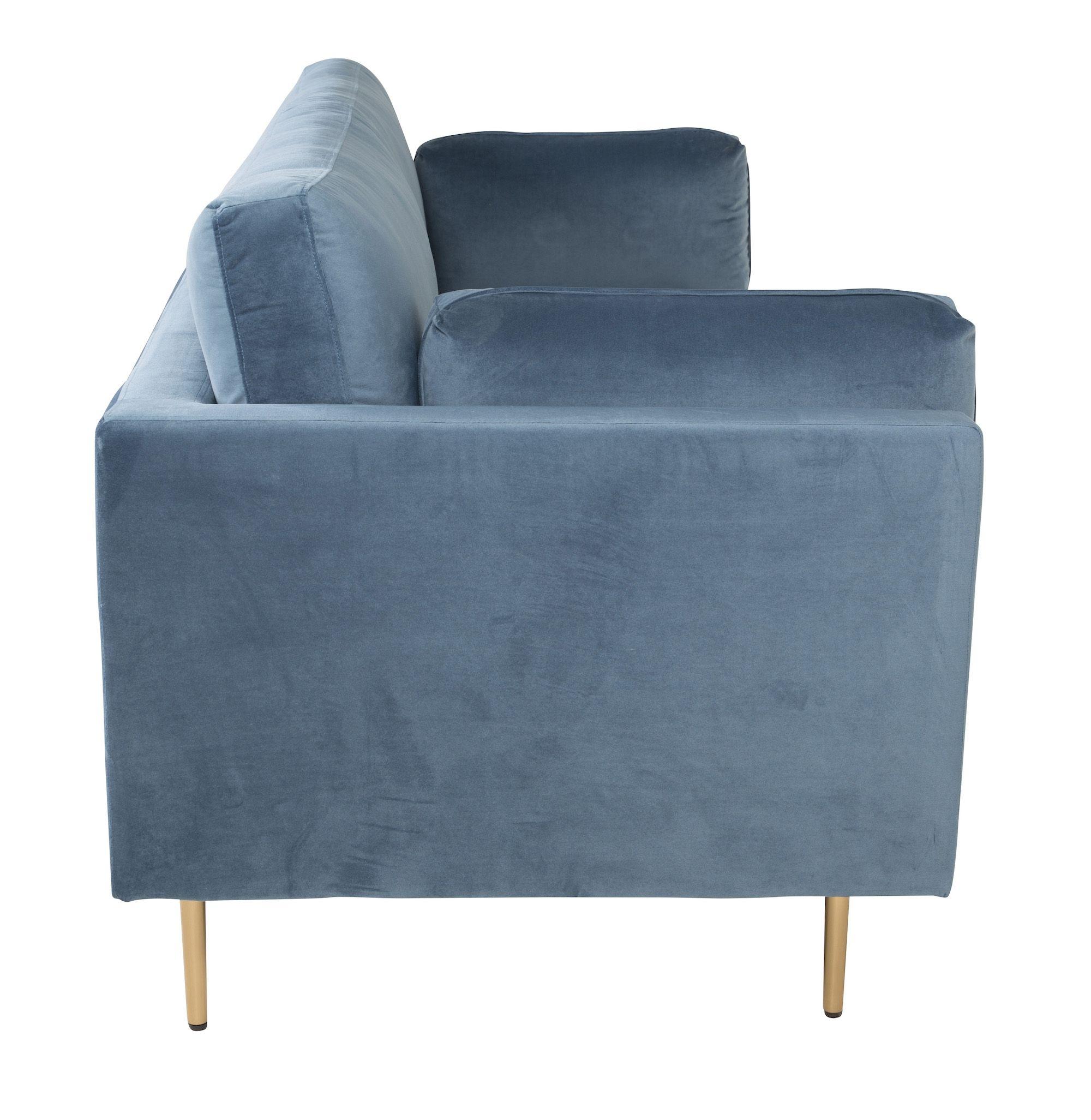 Boom 3-pers. sofa, Blå Velour