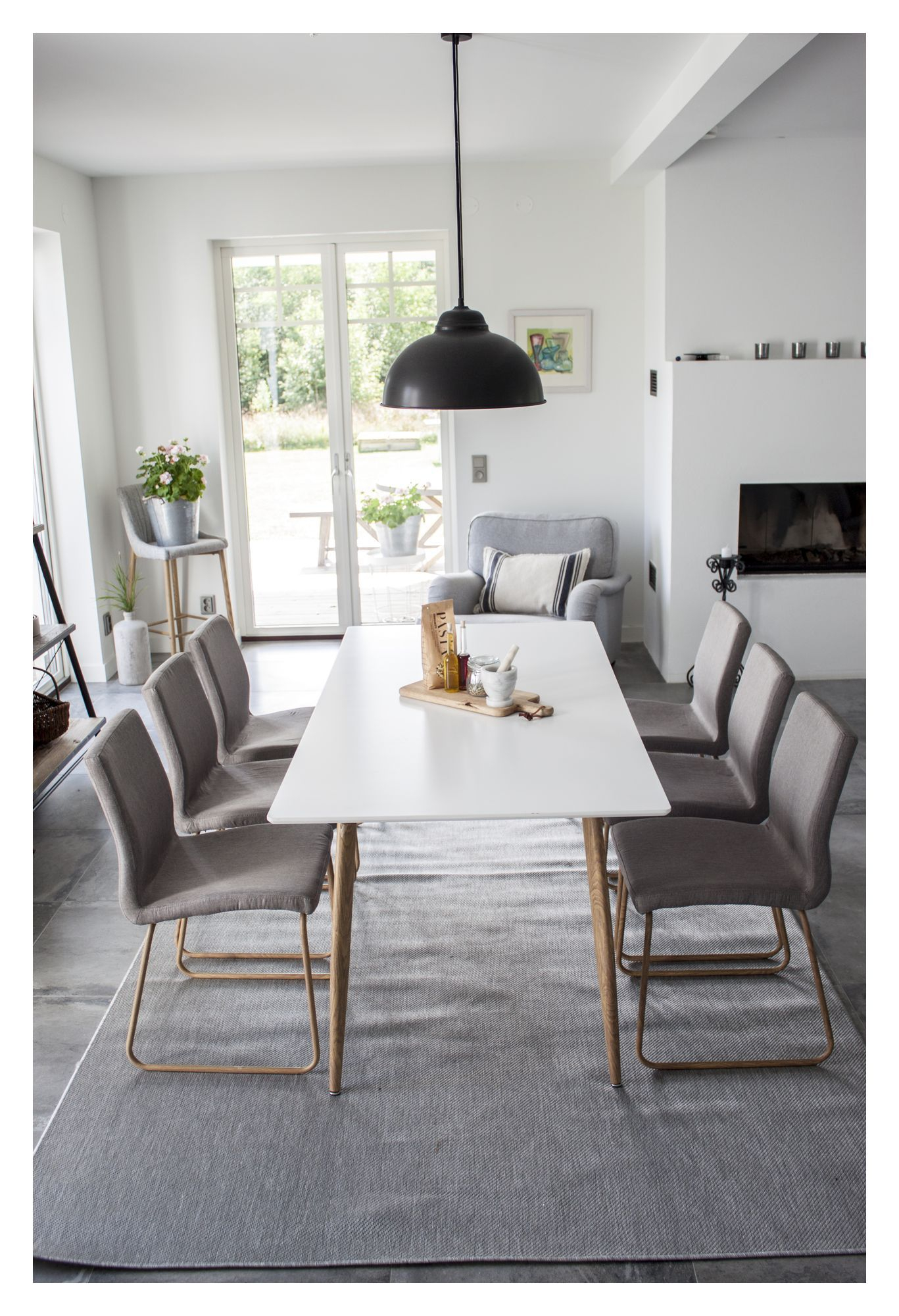 Mace Spisebordsstol, Grå m. ege-look