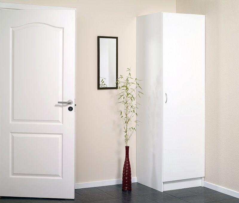 Garderobeskab 50cm i hvid