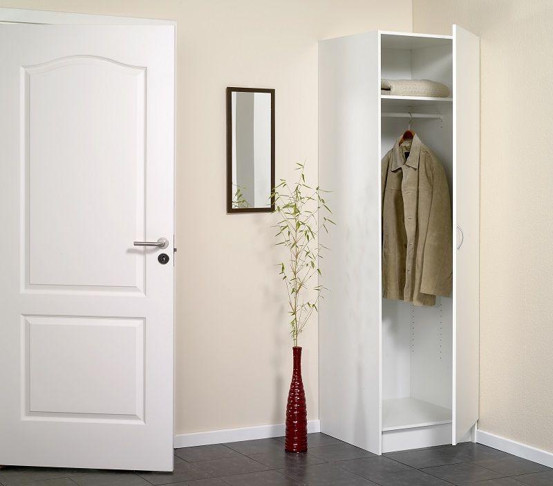 Garderobeskab 60 cm - Hvid