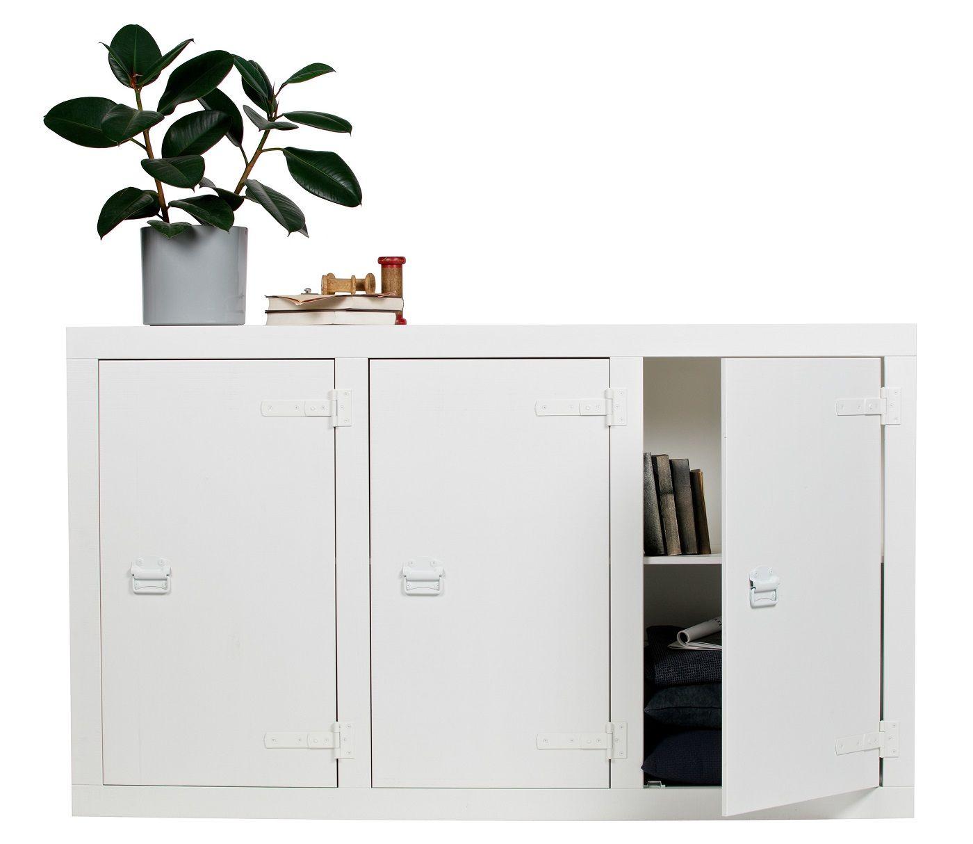 Bunk Kabinet i fyrretræ - Hvid