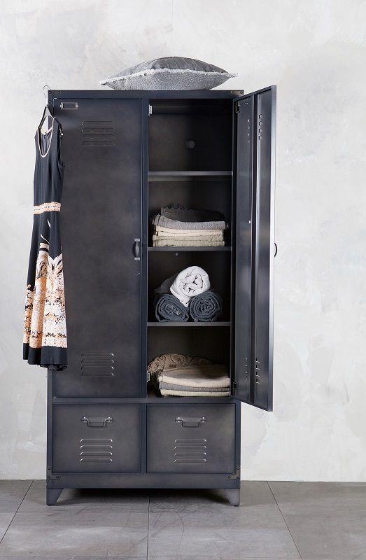 Locker Garderobeskab i metal - Sort