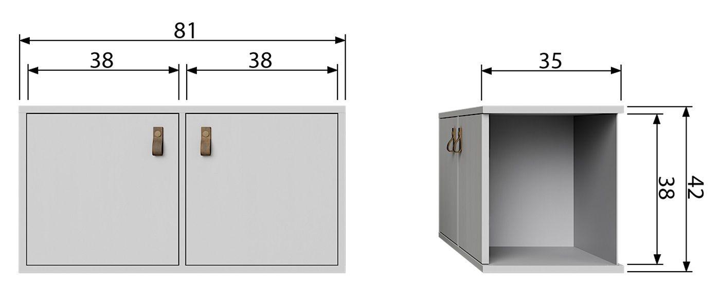 Lower Modulreol m/2 låger - Grå