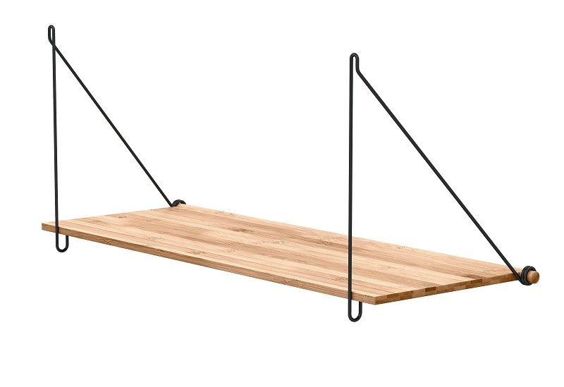 We Do Wood Loop hylde - Bambus - Hylde m/sort ophæng