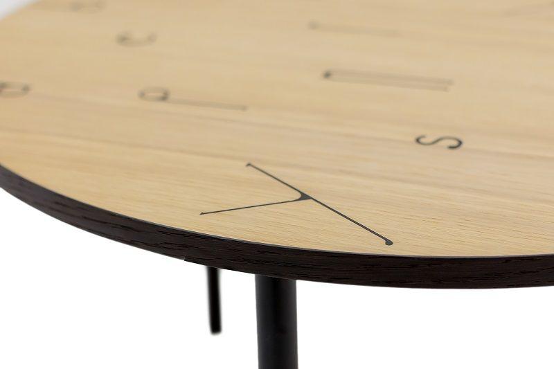 Woodman - Arty Letters Sofabord Ø50 - Egefiner