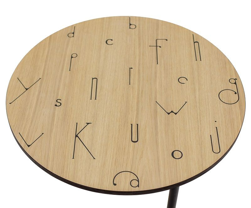Woodman - Arty Letters Sofabord Ø70 - Egefiner