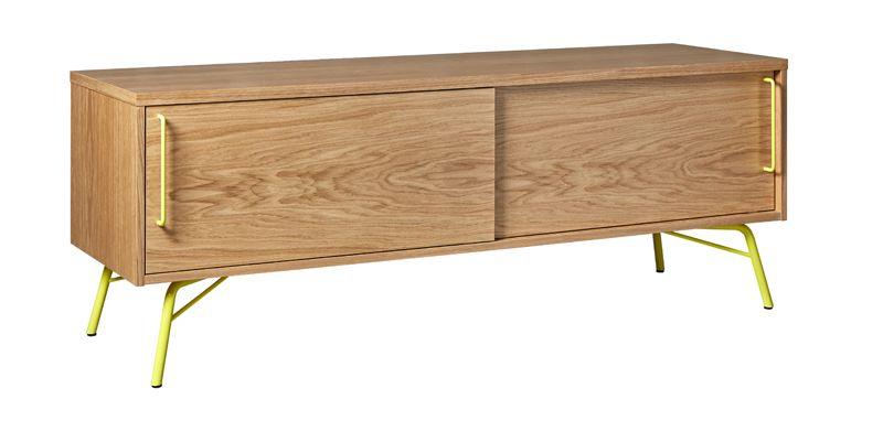 Ashburn Tvbord - Metal ben - Tvbord med skydelåger