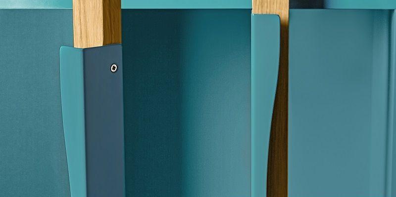 Woodman - Avon Vitrineskab - Blå - Vitrine med blå hylder