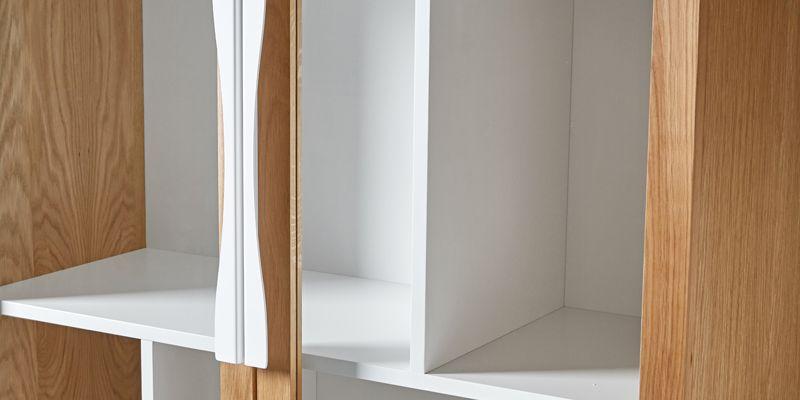Woodman - Avon Vitrineskab - Lys træ - Vitrineskab med glas