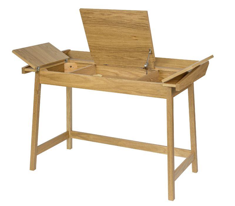 Woodman - Baron Skrivebord - Lys træ - Flaptop skrivebord