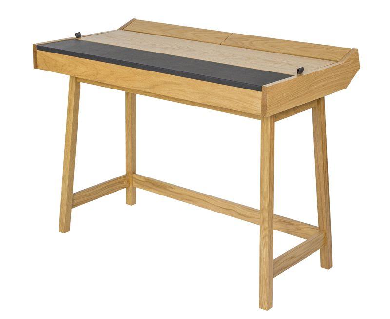 Brompton Skrivebord - Sort læder - Skrivebord med læder