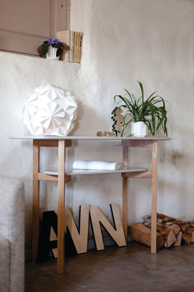 Cee Konsolbord - Lys grå - Konsolbord i lyst træ