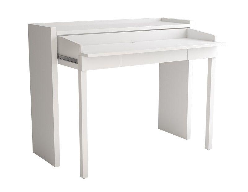 Woodman - Console Desk 16 Skrivebord - Hvid - Skrivebord med skuffe