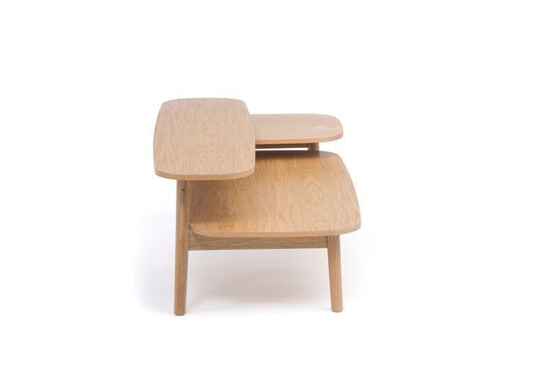 Woodman - Eichberg Sofabord - Lys træ - Ovalt sofabord