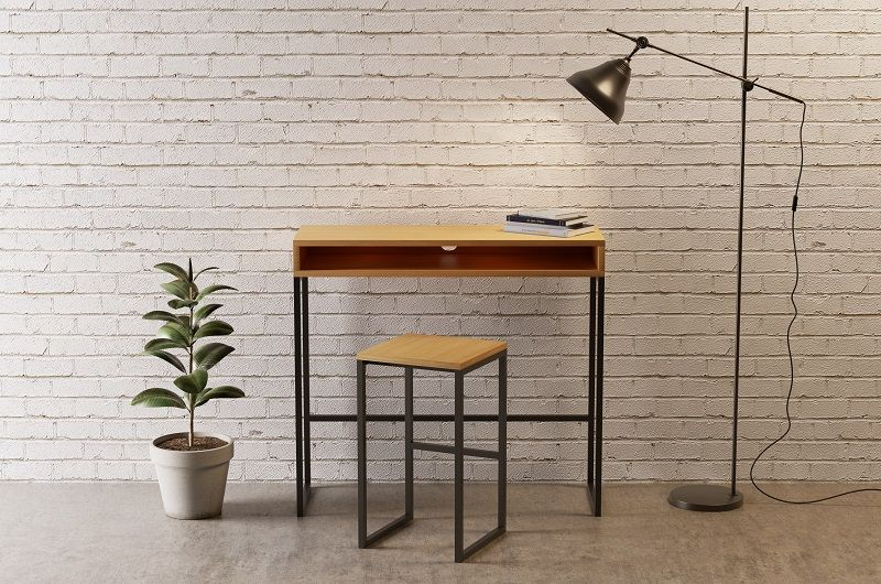 Woodman - Frame Skrivebord - Sort - Skrivebord i sort