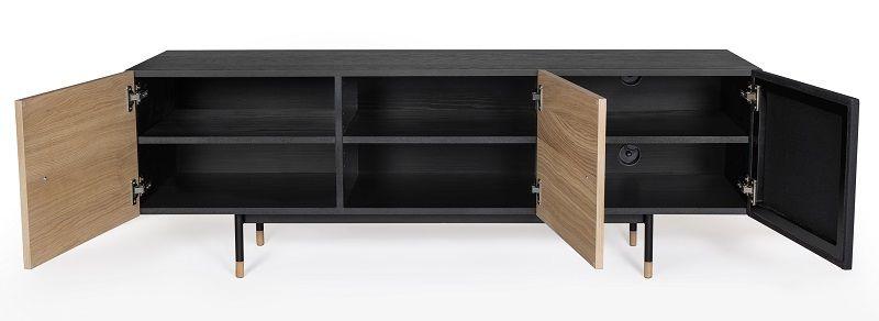 Woodman - Jugend Tvbord - Sort - Tv-bord med stoflåge