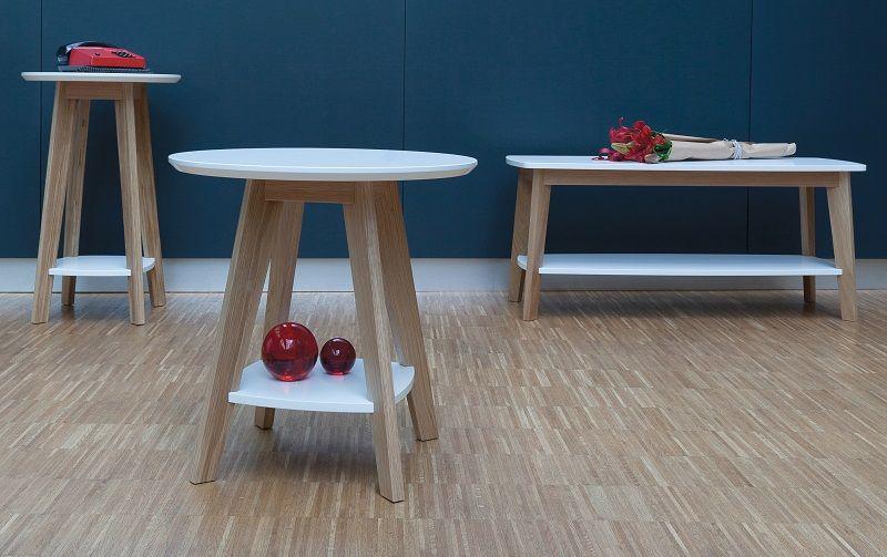Woodman - Kensal Sidebord - Hvid - Sidebord Ø55 cm