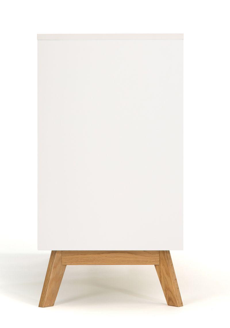 Woodman - Kensal Skænk - Hvid laminat - Hvid skænk