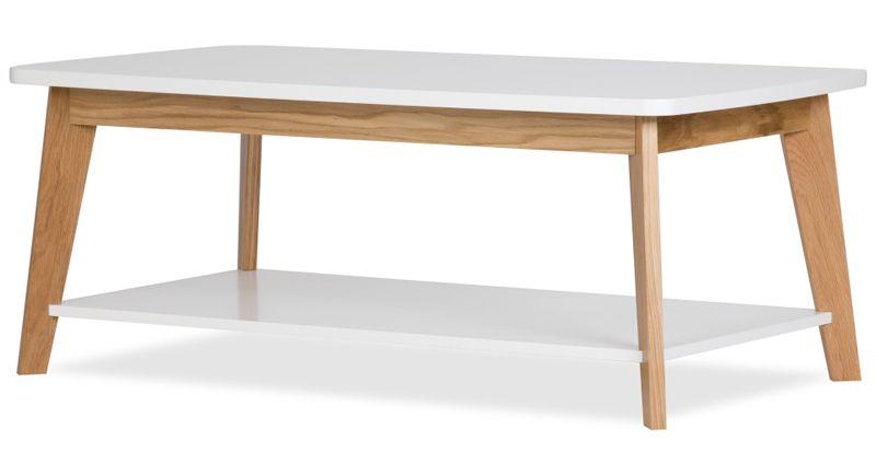 Kensal Sofabord - Hvid - Sofabord med hylde