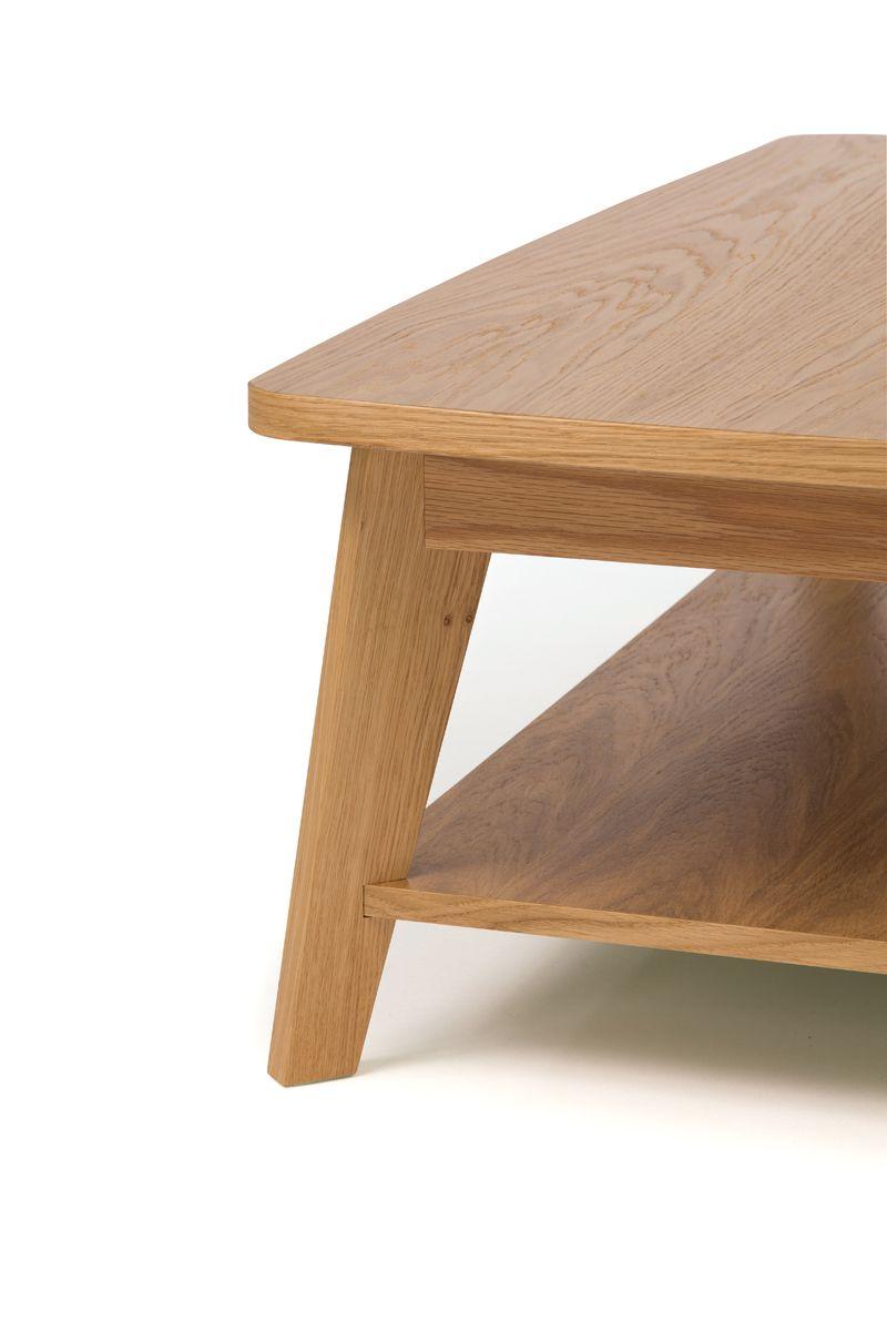 Woodman - Kensal Sofabord - Lys træ - Sofabord med hylde