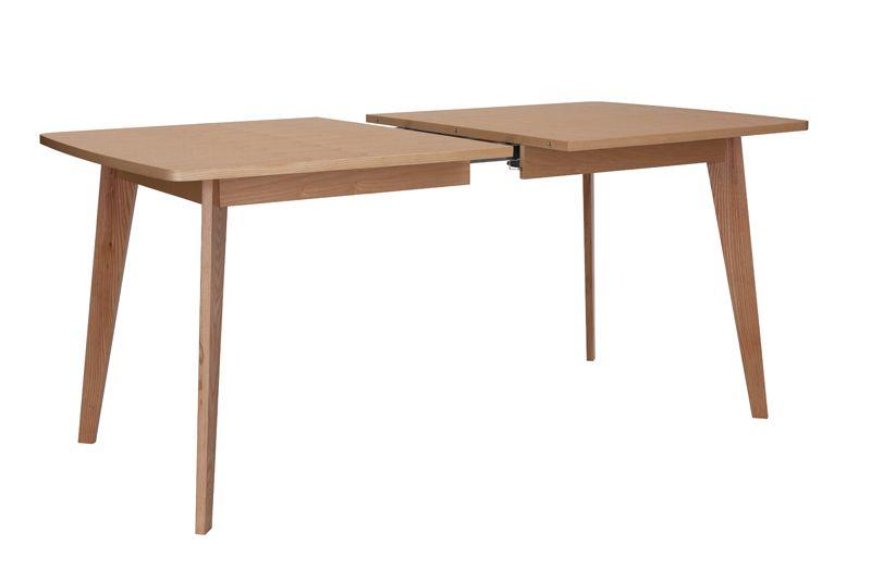 Kensal Spisebord m/udtræk - Lys træ - Spisebord 90x160 cm