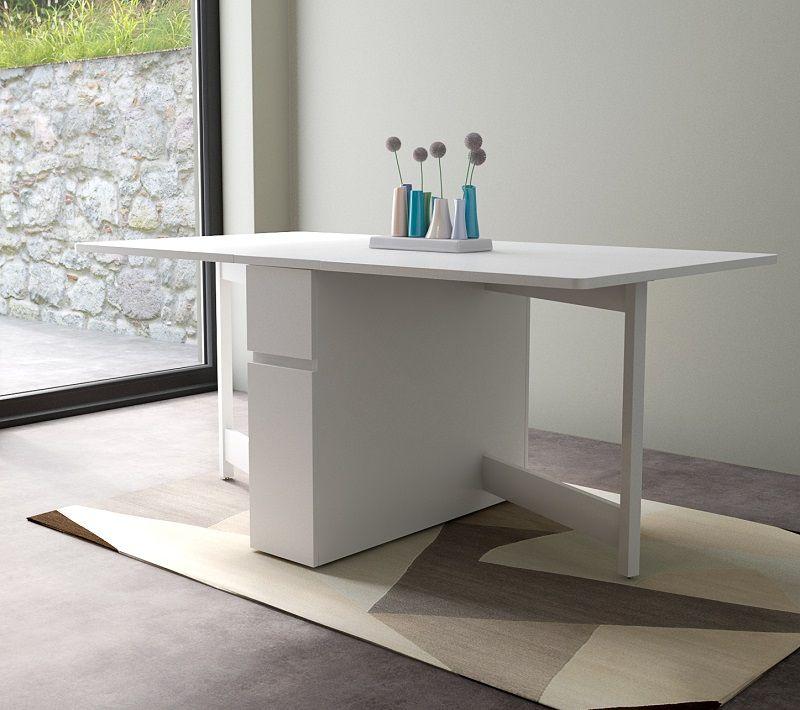 Woodman - Kungla Klapbord - Hvid - Hvidt klapbord med opbevaring