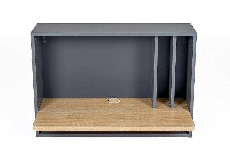 Woodman - Minyard Vægthængt Skrivebord - Grå