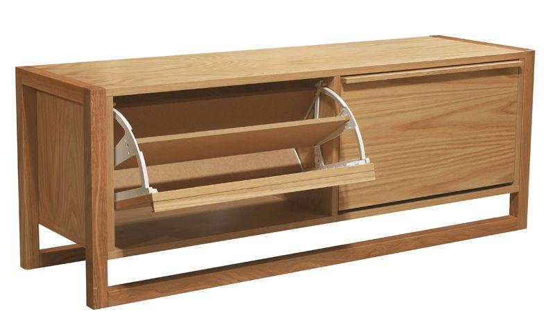 Woodman - NewEst Skoskab - Lys træ - Skobænk 120 cm