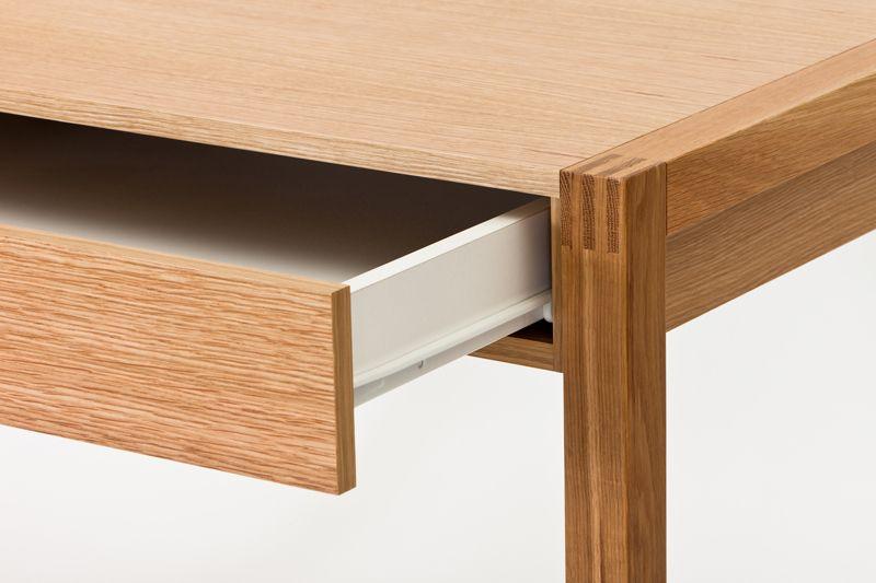 NewEst Skrivebord - Lys træ - Skrivebord med skuffe