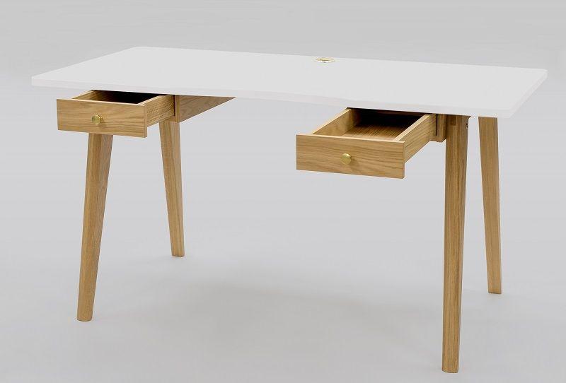 Woodman - Nice Skrivebord - Hvid - Skrivebord med hvid bordplade