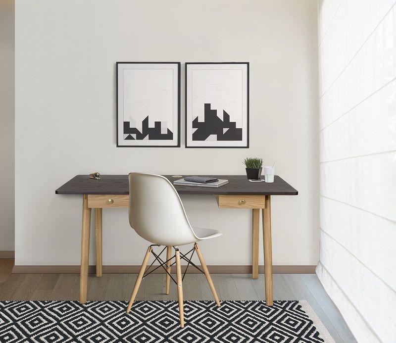 Woodman - Nice Skrivebord - Sort - Skrivebord med sort bordplade
