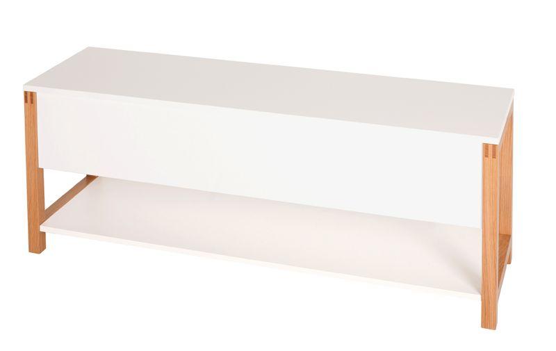 Northgate Bænk - Hvid - Bænk 120 cm