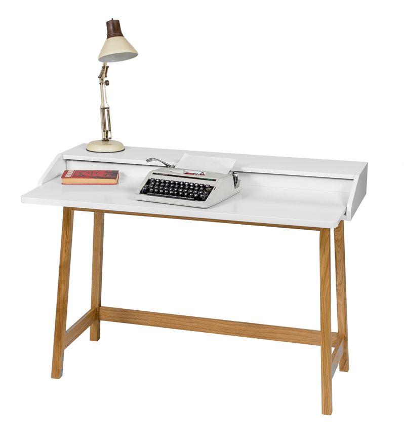 Woodman - St James Skrivebord - Hvid - Skrivebord i hvid