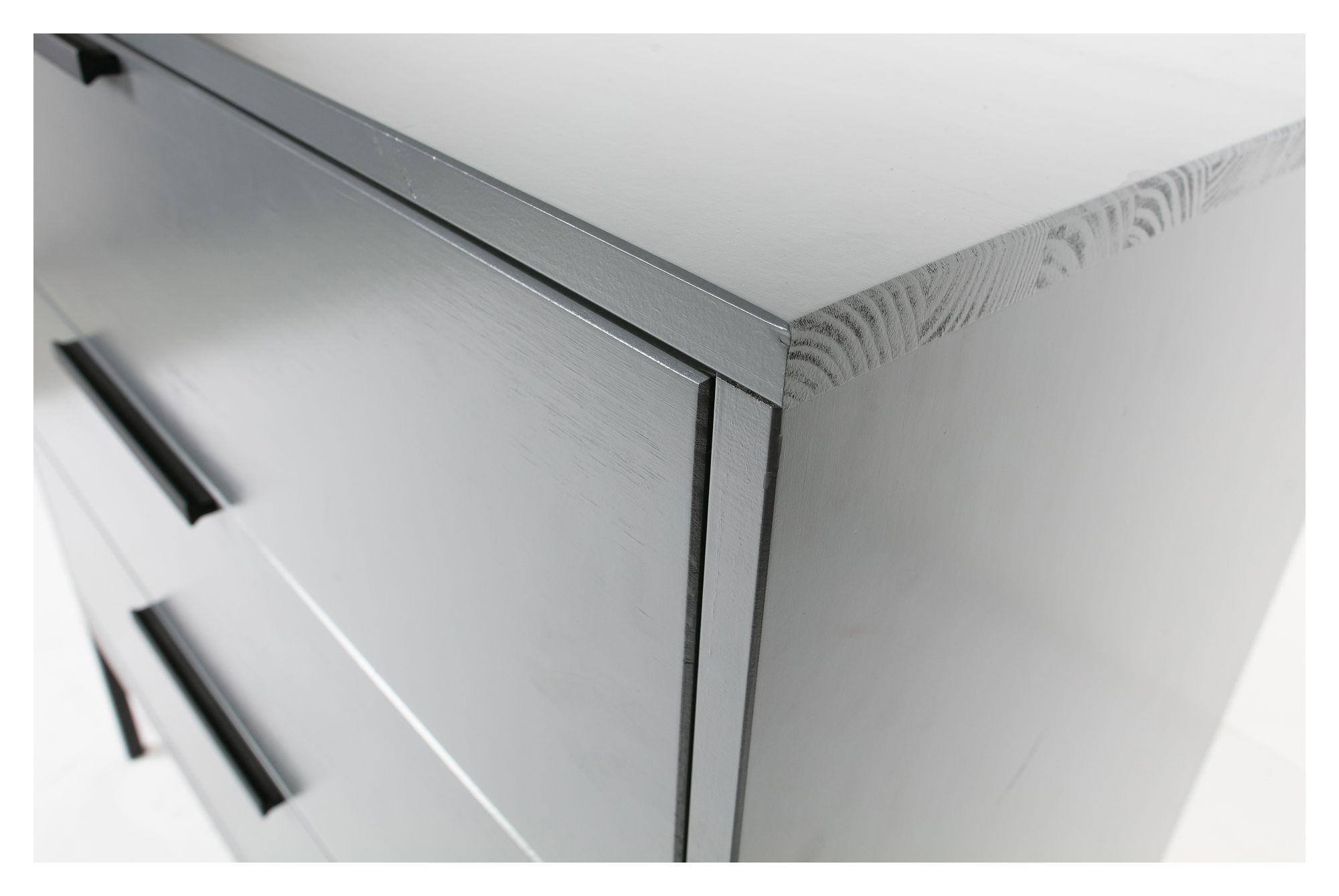 Woood Adam Kommode m. 3 skuffer - Steel Grey