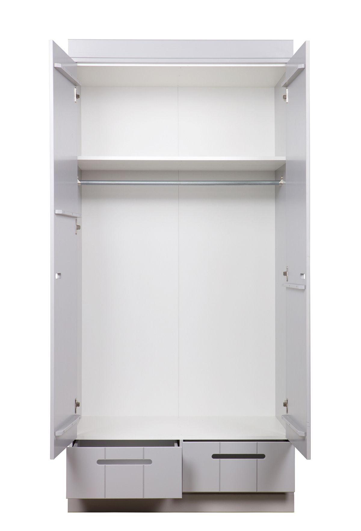 Woood - Connect Garderobeskab - Betongrå
