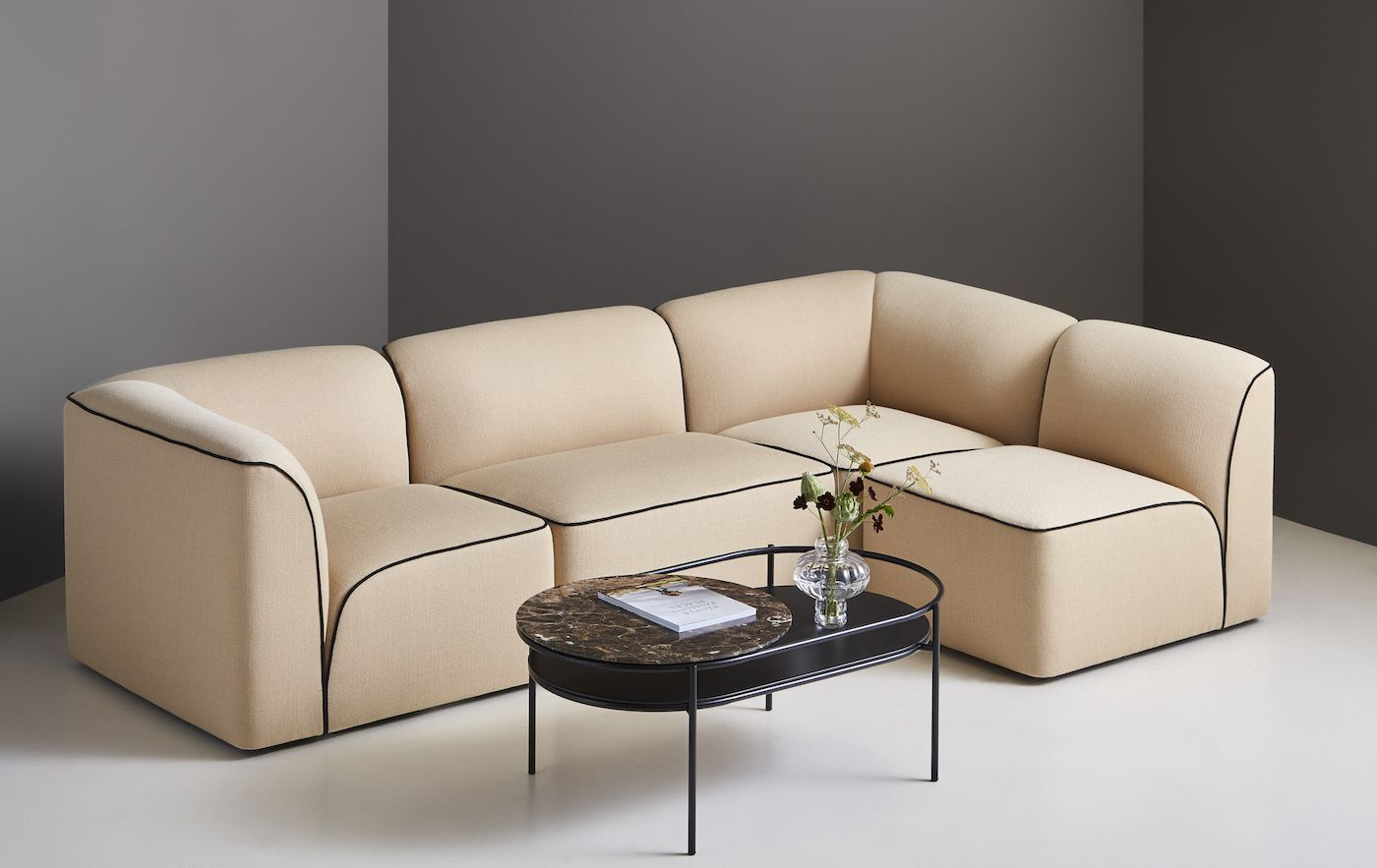 WOUD - Flora Modulsofa 66cm midt - offwhite