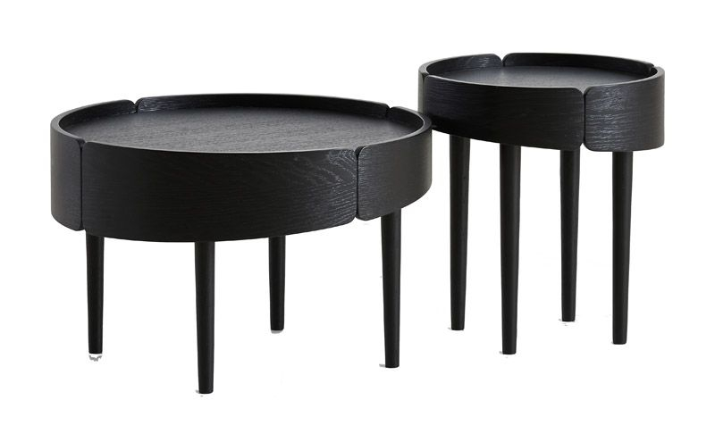 WOUD - Skirt Sidebord - Sort - Lille sofabord i sort