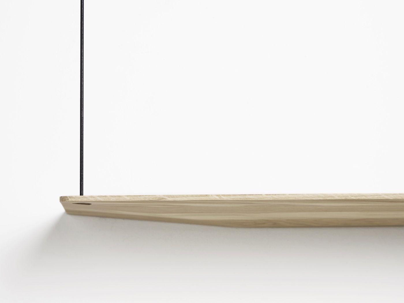 WOUD - Stedge Hylde, hvidpigment eg, 2 hylder, 80cm