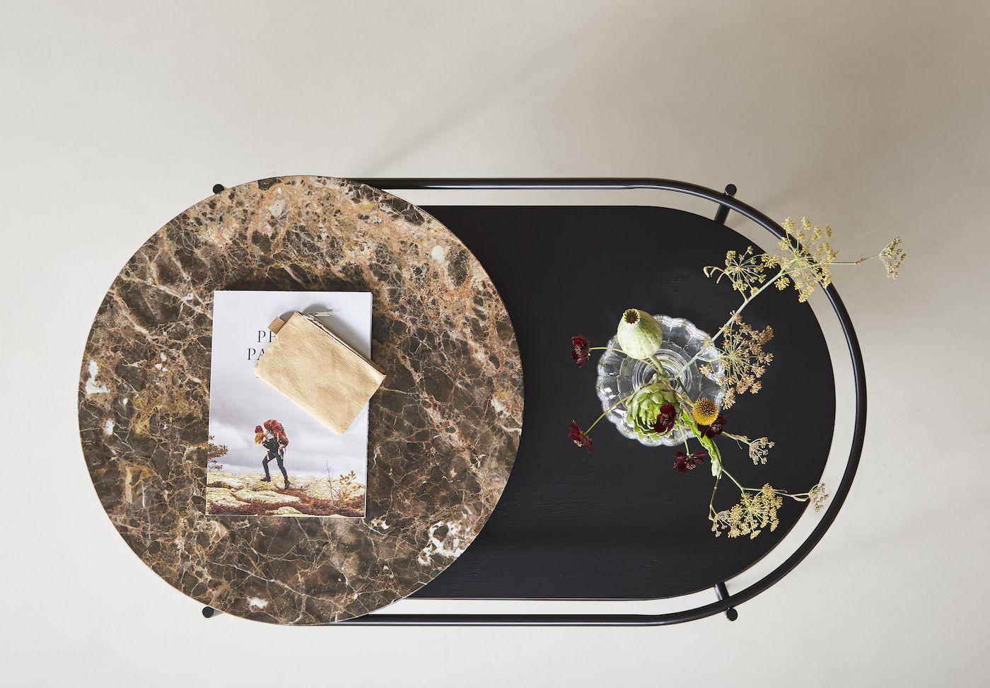 WOUD - Verde Sofabord - brun marmor