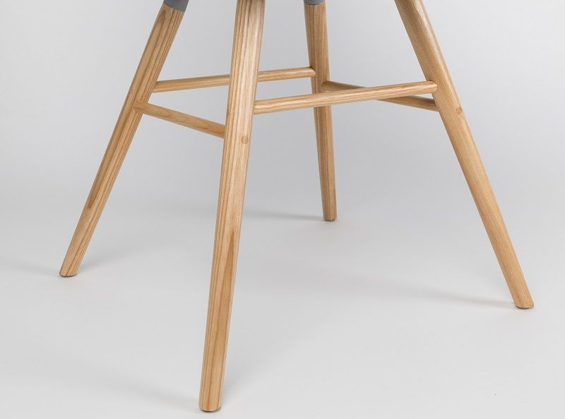 Zuiver Albert Kuip Spisebordsstol m/armlæn - Spisebordsstol m/armlæn i lys grå